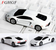 FGHGF Cool White Car Model USB 2.0 Memory Stick Flash disk PenDrive 2GB 4GB 8GB 16gb 32gb usb flash drive free shipping