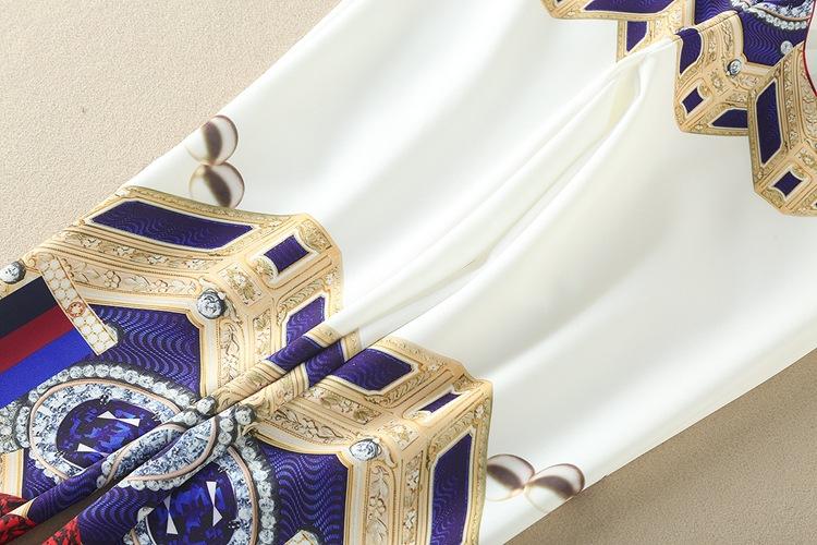 High Quality 17 Designer Runway Suit Set Women's Two Piece Casual Tops + Fashion Print Mid Calf Pants Set suit Free DHL Aramex 18