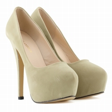NEW WOMENS HIGH HEELS PARTY COURT SHOES Flock CONCEALED PUMPS PLATFORM POINTED TOE SHOES US SIZE US4-11 817-1VE