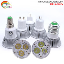 GU10 3W LED Bulb Lamp 110V 220V 230V  3Leds  E27 E14 GU5.3 SpotLight Kitchen Hotel Bedroom Lighting Lampada MR16 12V Led Lights