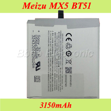 Meizu MX5 Battery 100% Original BT51 3150mAh Replacement Batterie Bateria Accumulator AKKU(China)