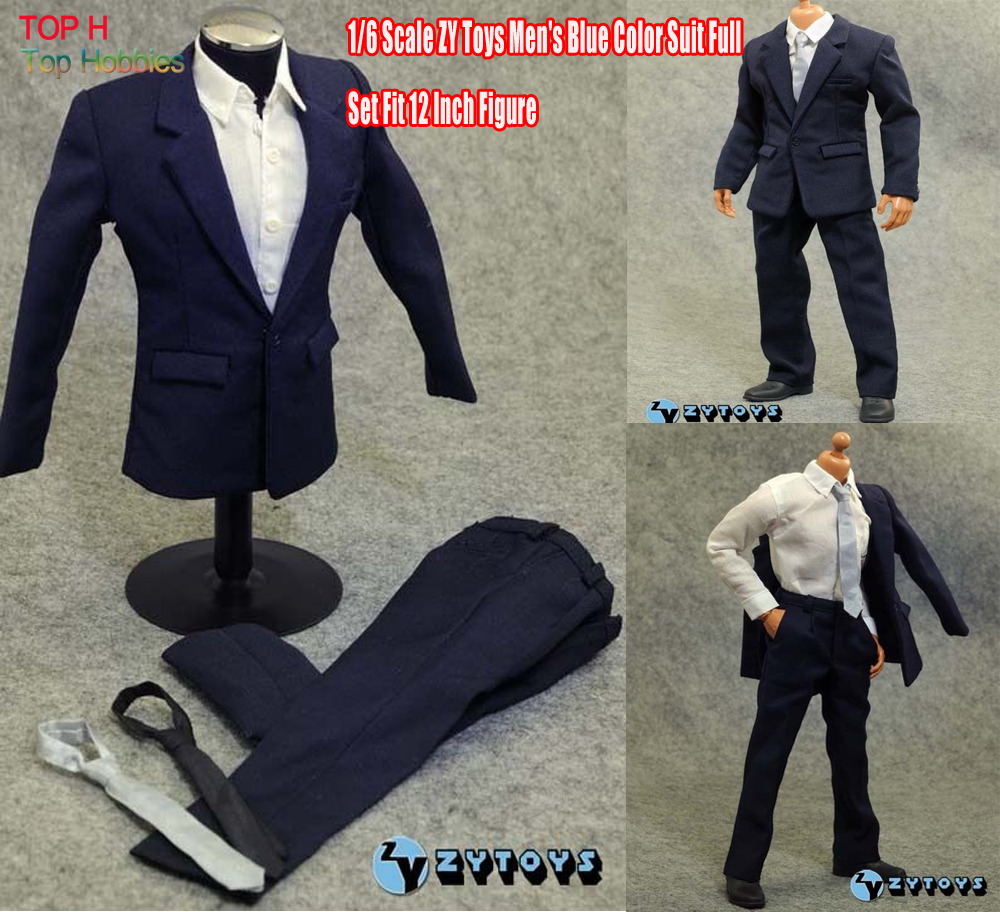 ZY Toys Mens Blue Color 1:6  jacket /Pants Suit Full Set 1/6 Fit for 12 inch Action Figure<br>