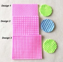 9435 Small and Big Grid Texture Mat Woven Bag Fondant Mold Cupcake Mold Silicone Sugar Mold Cake Decoration Mold