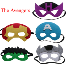 1pc The Avengers Mask Cosplay Party Supplies Kids Birthday Children's Day Gift Hawkeye Hulk Thor Captain America Iron Man Mask(China)
