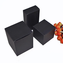 50pcs/lot sizes 5/6/7/8cm kraft Paper Boxes 3colors DIY Lipstick Perfume Essential Oil Bottle packaging boxes valve tube package(China)