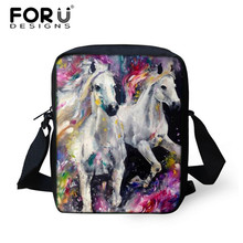 FORUDESIGNS Ladies Mini Cross body Bag,Horse Printing Women Messenger Bags,Woman Kids Cute Small Kawaii Shoulder CrossBody Bags