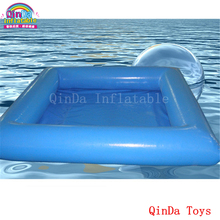 Square shape 6m pool inflatable toy for kids ,factory price inflatable PVC pool include free pump