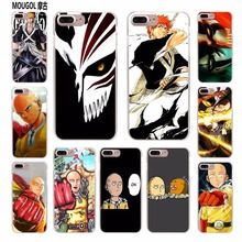 MOUGOL Anime Bleach One Punch Man design transparent hard case cover for Apple iPhone X 8 5 5s SE 5C 6S 6Plus 7 7Plus(China)