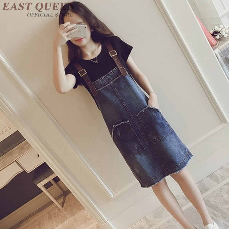 Pinafore dress women denim sundress jean dresses women 2018 new arrivals  streetwear sleeveless woman winter dress b8a977593a88