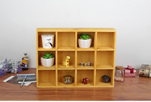 1PC 3 Colors Zakka grocery wall storage box old solid wood storage cabinet display box 39.3x7.5x29.4cm J0963(China)