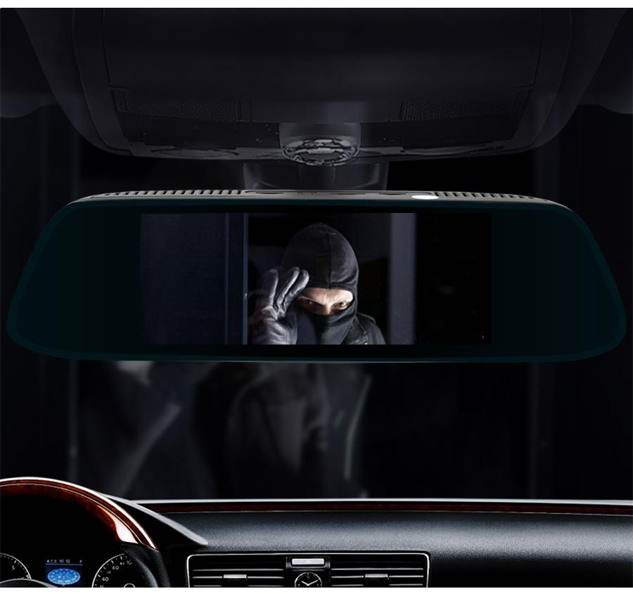 "Junsun 8"" 4G Special Mirror Car DVR Camera Android 5.1 with GPS DVRs Automobile Video Recorder Rearview Mirror Camera Dash Cam 24"