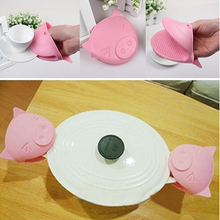 1Pc Cute Pig Heat Resistant Silicone Anti-Slip Oven Glove Mitt Cake Baking Tool