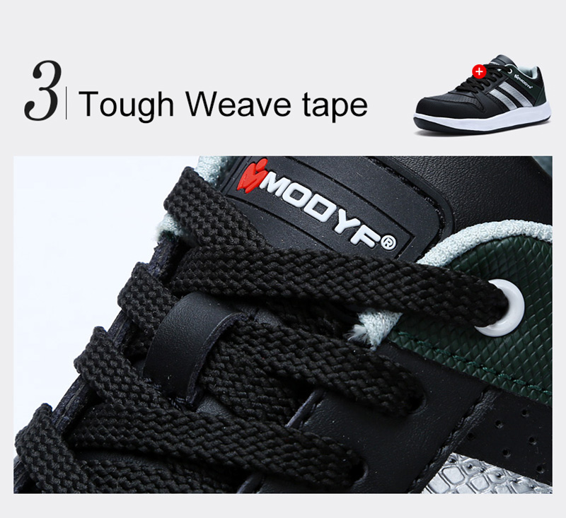 Modyf Men Safety Shoes Steel Toe Work Shoes Flats Casual Protective Footwear 12