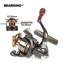 Bearking 2017 mini Fishing Reel Fishing Spinning Reel 5.2:1 5+1BB Light Aluminum Fishing Reel Wheel Series Free shipping