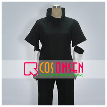COSPLAYONSEN Naruto Sasuke Uchiha Cosplay Costume All Size Black Color Custom Made