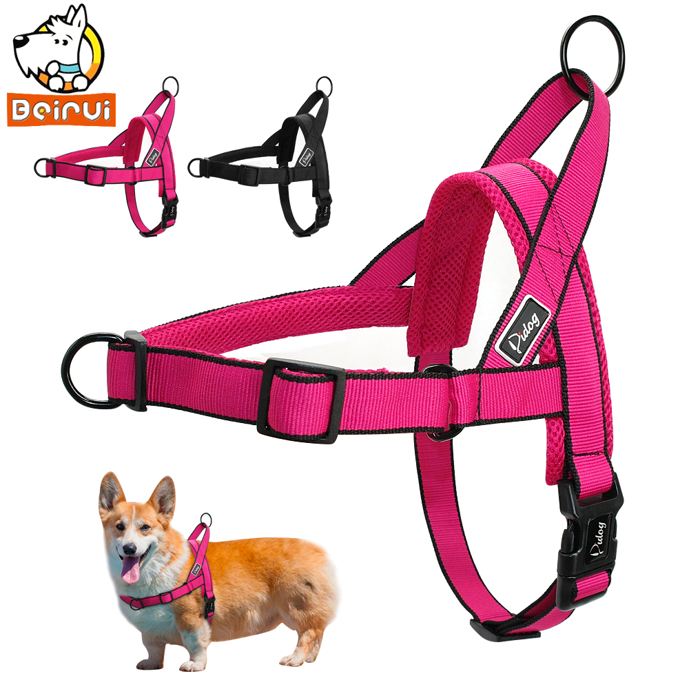Black or Red Basic Pet Harness Soft Mesh Adjustable /& Lightweight Size L or XL