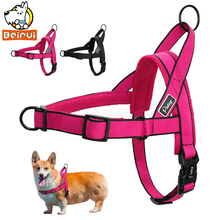 No Pull Dog Harness Adjustable Breathable Step In Walking Pet Mesh Harnesses for Medium Large Dogs Pitbulls Rose Red Black