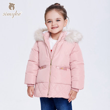 Simyke Girls Winter Coats 2017New Children's Warm Outwear Kids Fleece Jackets for Toddler Girl Parks Child Brand Clothing G3810(China)