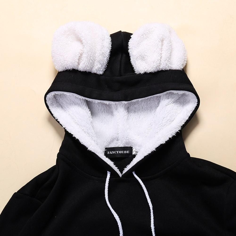 17 New Cartoon Hooded Hoodies Lover Cats Kangaroo Dog Hoodie Long Sleeve Sweatshirt Front Pocket Casual Animal Ear Hoodie 56