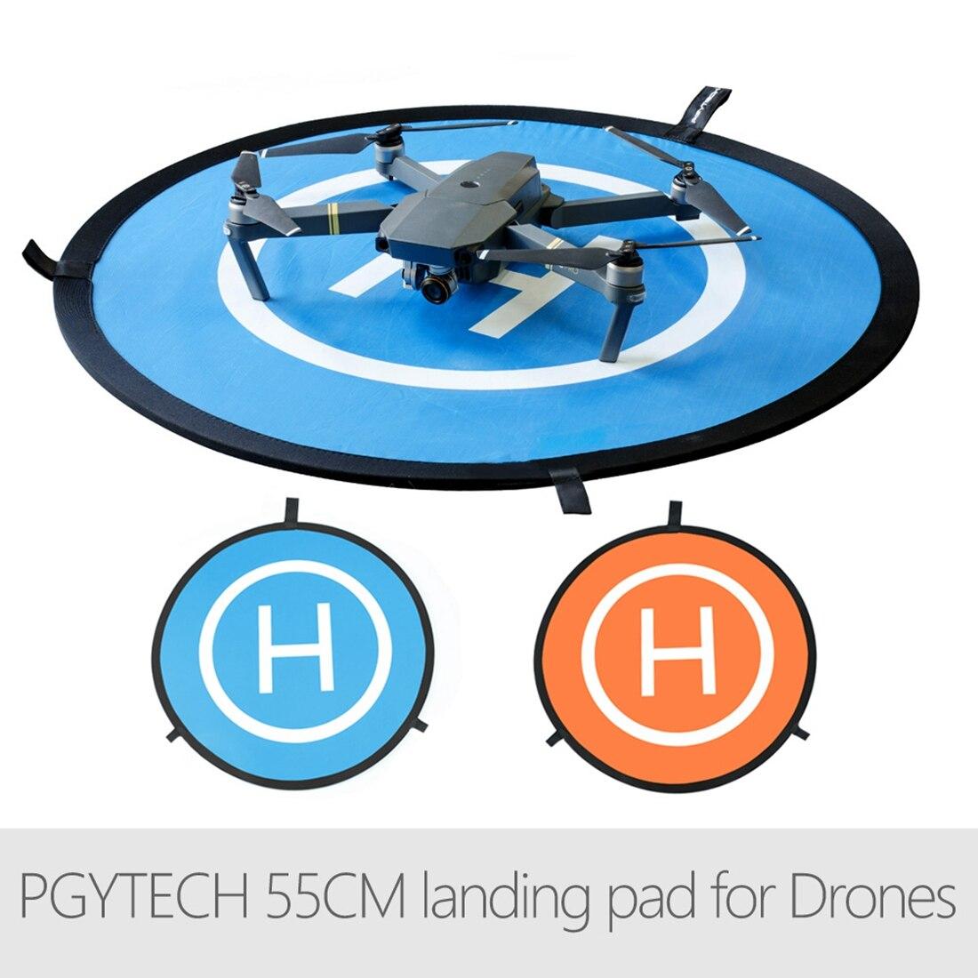 PGYTECH 55CM Fast-fold landing pad Extended Landing Gear Leg Extension LED Headlight set for DJI Mavic Pro