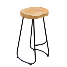 The village of retro furniture,Vintage metal bar chair,anti rust treatment,Commercial Bar furniture sets,100% wood bar stool(China)