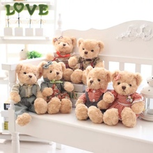 2016 Korean version of the Teddy Bear plush toys, teddy bears couple doll, uniforms bear doll, free shipping!
