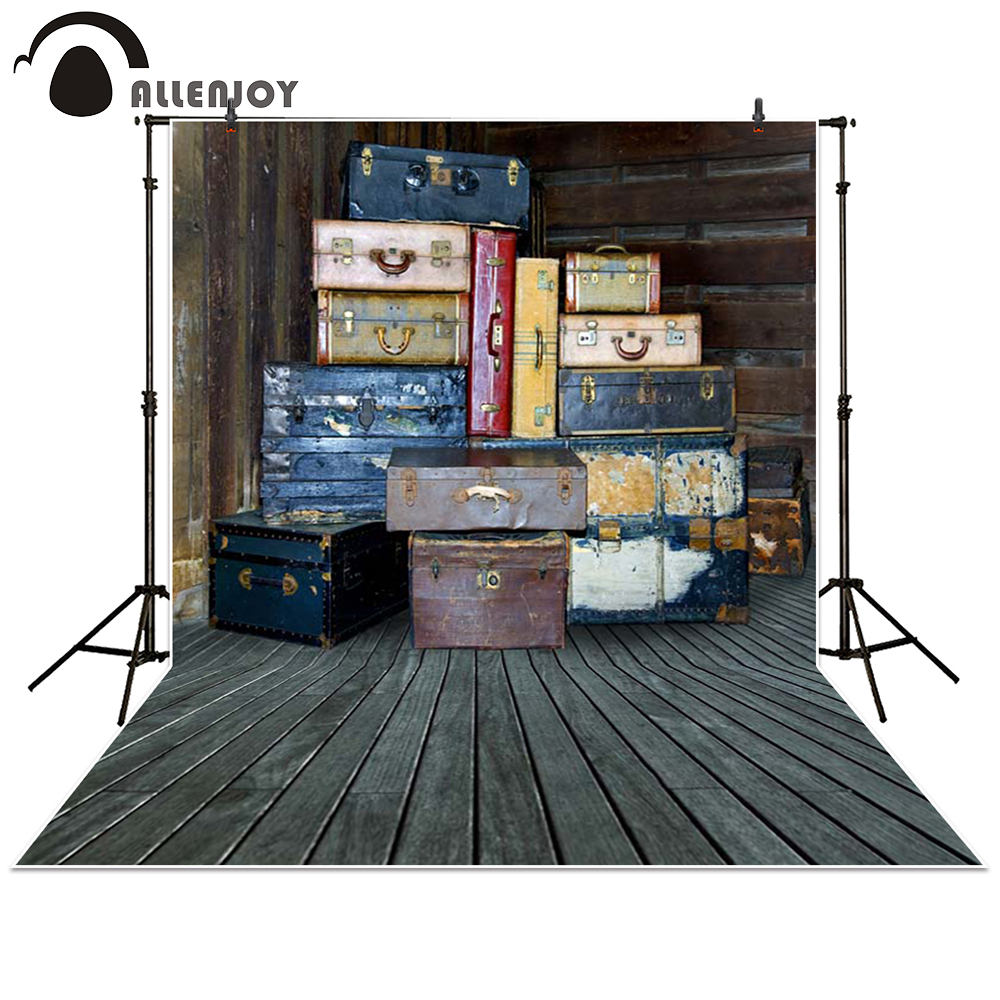 Allenjoy photography backdrop trunk Box wood brown retro baby shower children background photo studio photocall(China (Mainland))