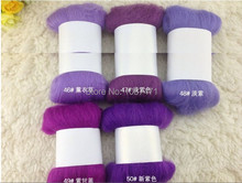 filler for pillows diy felt bag wool roving merino wool felt toy needle felting poke fun purple 10 system Free shipping(China)
