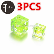 3 PCS Mini One-Dimensional Two-Dimensional Three-Dimensional Bubble Spirit Level Acrylic For Camera Level Measure Tools