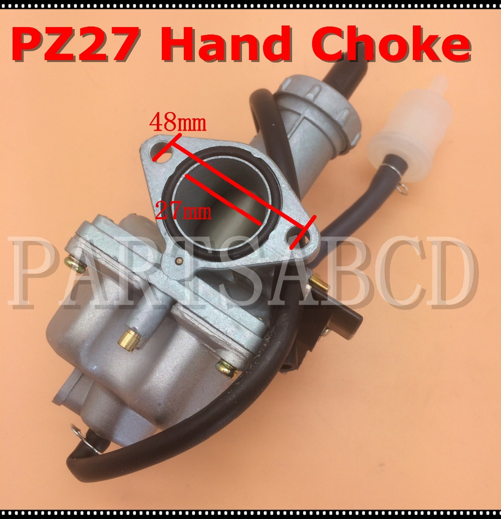 27MM CARBURETOR HAND CHOKE CHINESE ATV DIRT BIKE 200CC 250CC NEW