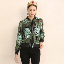 Buy High new designer fashion Vintage short coat Women's Long Sleeve Flowers Embroidered Beading Deluxe Party coats for $78.10 in AliExpress store