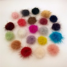 100X Fluffy Mink Fur Ball 30mm jewelry findings hair findings Dress Accessory different colors to select(China)