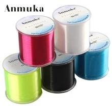 Anmuka Fishing Line 500m Monofilament Strong Quality Color Nylon Fishing Lines 8LB 12LB 16LB 20LB 25LB 30LB 35LB 40LB 50LB 80LB