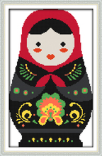 Russian dolls (1) cross stitch kit cartoon 14ct 11ct count print canvas stitching embroidery DIY handmade needlework(China)