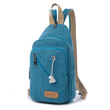 2016 Fashion Designer Ladies Mini Backpack Multifunction Canvas Chest Bag Women Travel Rucksack Casual School Bag For Teenager(China)