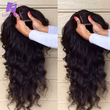 Luffy 5x4.5 Silk Base Wig Brazilian Hair Glueless Silk Top Full Lace Human Hair Wigs For Black Women Loose Deep Wave Lace Wigs