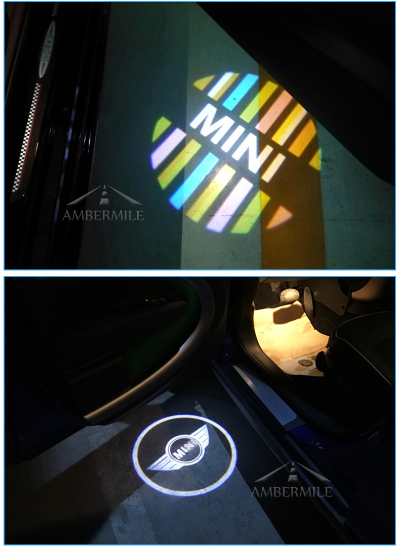 LED Car Door Shadow Light Laser Projector Logo Welcome Lights for Mini Cooper Countryman Accessories Car Styling (8)
