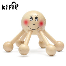 KIFITWood New Massager Hexagon Six Legs Supports Portable Massager Knee Back Head Body Relaxation Body Massage Health Care Tool