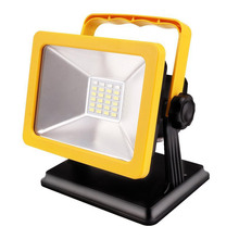 Flood Light IP65 Floodlight Spotlights Rechargeable Lamp Portable 15W 24 LED Outdoor Lamp Waterproof LED Working Emergency light(China)