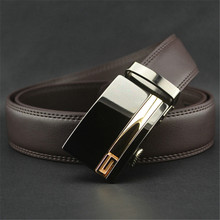 LannyQveen new fashion Belt business style men's Genuine leather Automatic buckle belts yiwu belt factory free shipping(China)