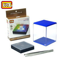 LOZ Display Box and LED Base Transparent for Diamond Building Blocks Multicolor Compatible With Wisehawk QCF LOZ(China)