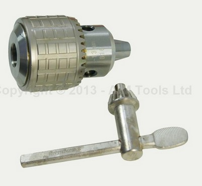 Heavy Duty Press Drill Chuck 1MM - 13MM Taper Mount B16 With Wrench<br>