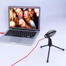 Professional 3.5mm Audio Condenser Sound Studio Recording Singing Broadcasting Microphone Mic with Tripod For PC Laptop Computer
