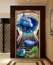 3d room wallpaper custom murals non-woven wall sticker beach entrance hall photo TV sofa background wallpaper for walls 3d(China)