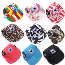 Dog Hat With Ear Holes Summer Oxford cloth Baseball Cap For Small Pet Dog Outdoor Accessories Hiking Pet Products(China)