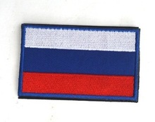 Russia flag  the patches 3D stickers Personality Embroidery design badges customized for clothes clothing Hook/Loop 8*5CM