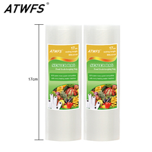 ATWFS High Quality 17cm*500cm/Roll Food Vacuum Bags Food Saver Vacuum Sealer Bags Vacuum Packing Bags(China)