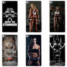151GH Loving Bodybuilding Gym Fitness Hard Transparent Cover for Huawei P7 P8 P8 P9 Lite Honor 4C 5C 6 7 8  & Nova