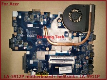 FOR ACER 5552G 5551G Laptop motherboard  LA-5912P + heatsink=instead LA-5911P motherboard DDR3 Perfect Working