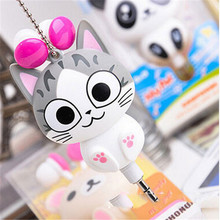10pcs Cute Cartoon Cat 3.5mm Wired Retractable Earphones For girls Christmas Gift for Xiaomi IPhone  5s 6 6s 7 plus MP3 MP4 Gift